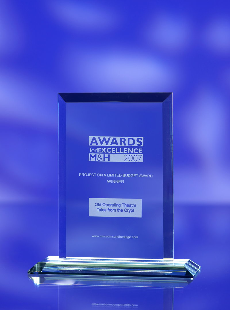 3D laser crystal jade glass rectangular award trophy