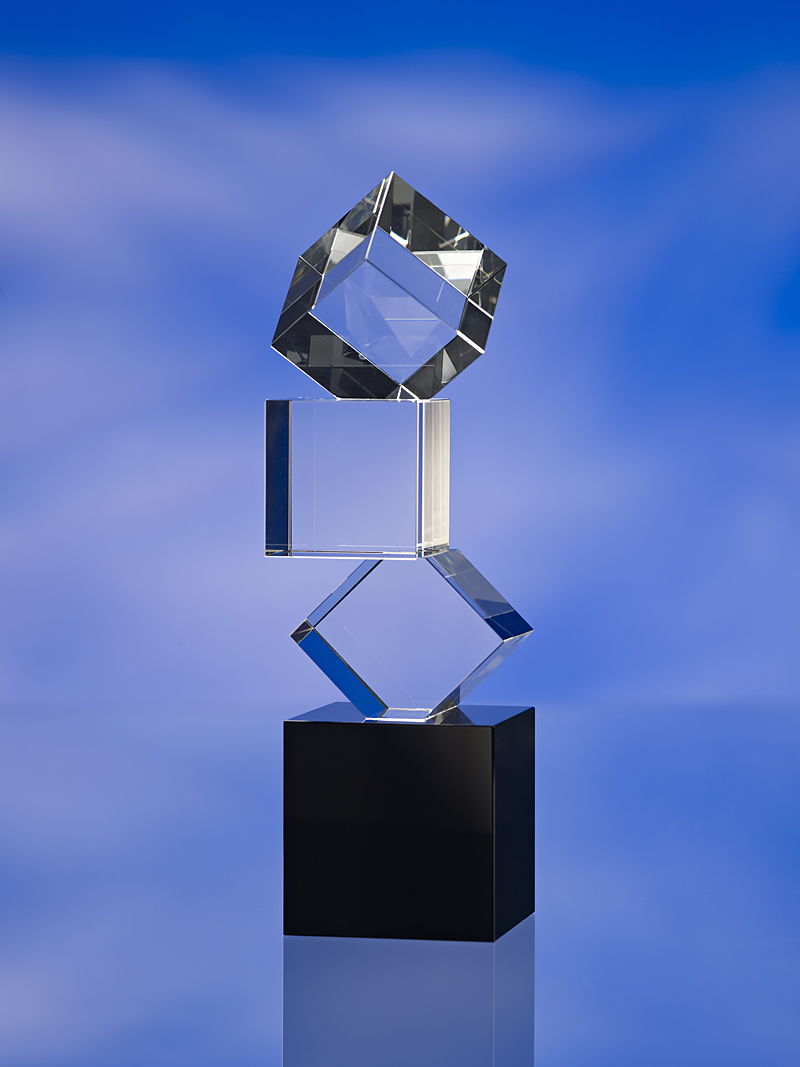 BUILDING BLOCKS GLASS AWARD TROPHY