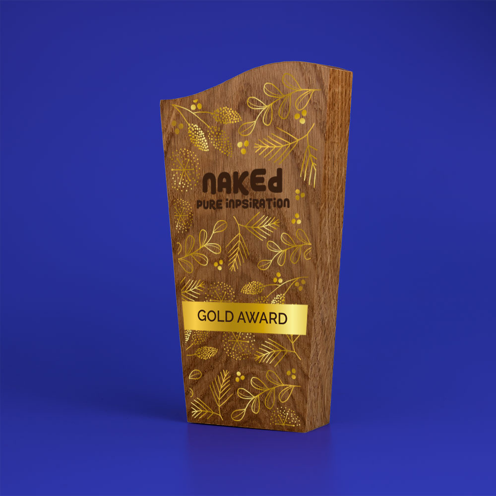 Real Wood Block Award, wood only, basic standard shapes