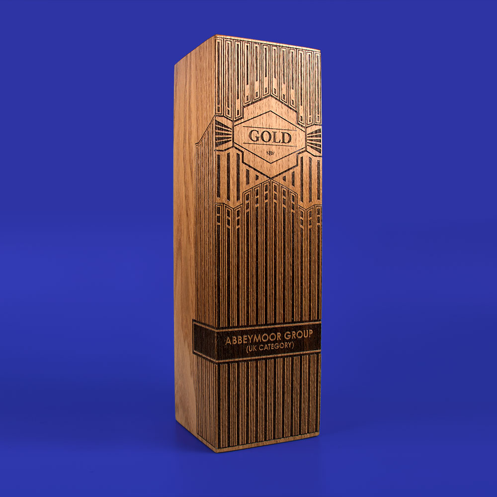 Real Wood Column Award, large