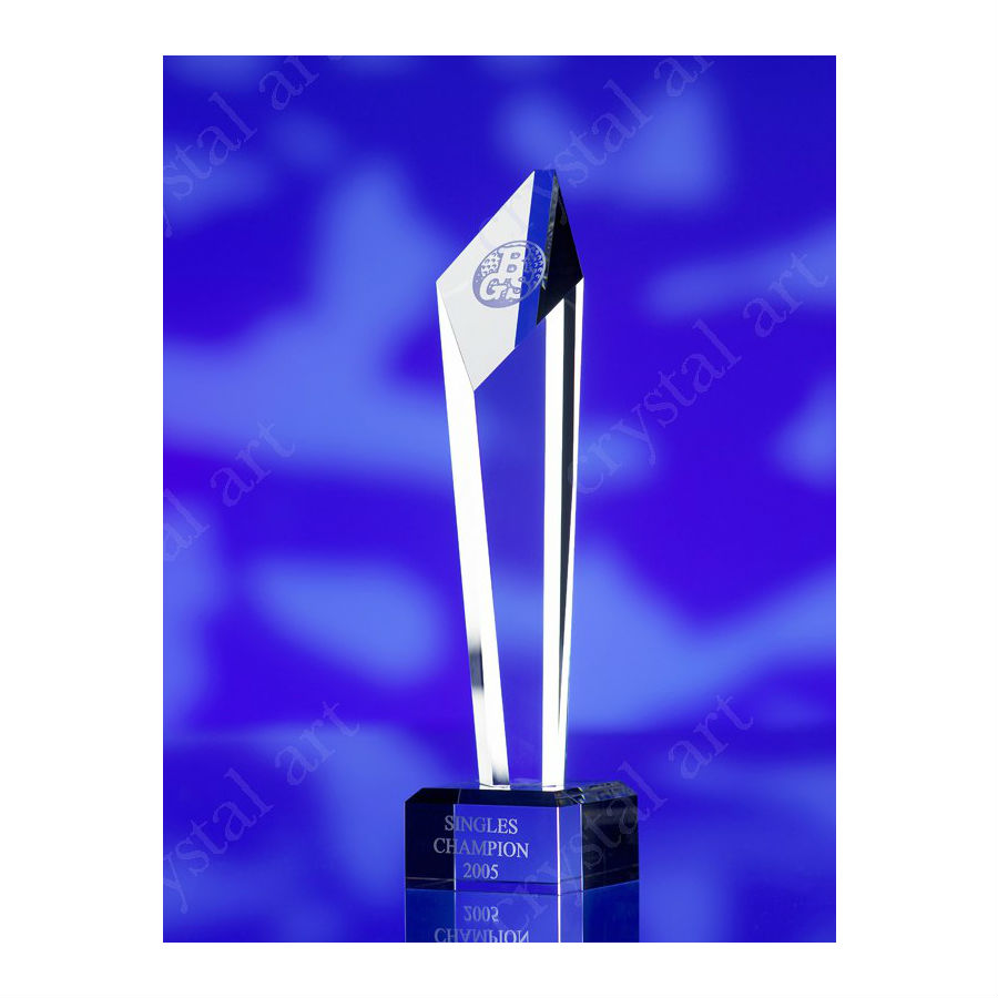 3d crystal diamond top glass award trophy BGS Singles Champion 2005