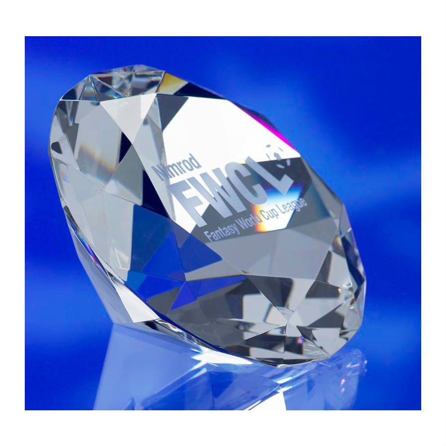 3d crystal glass diamond award trophy