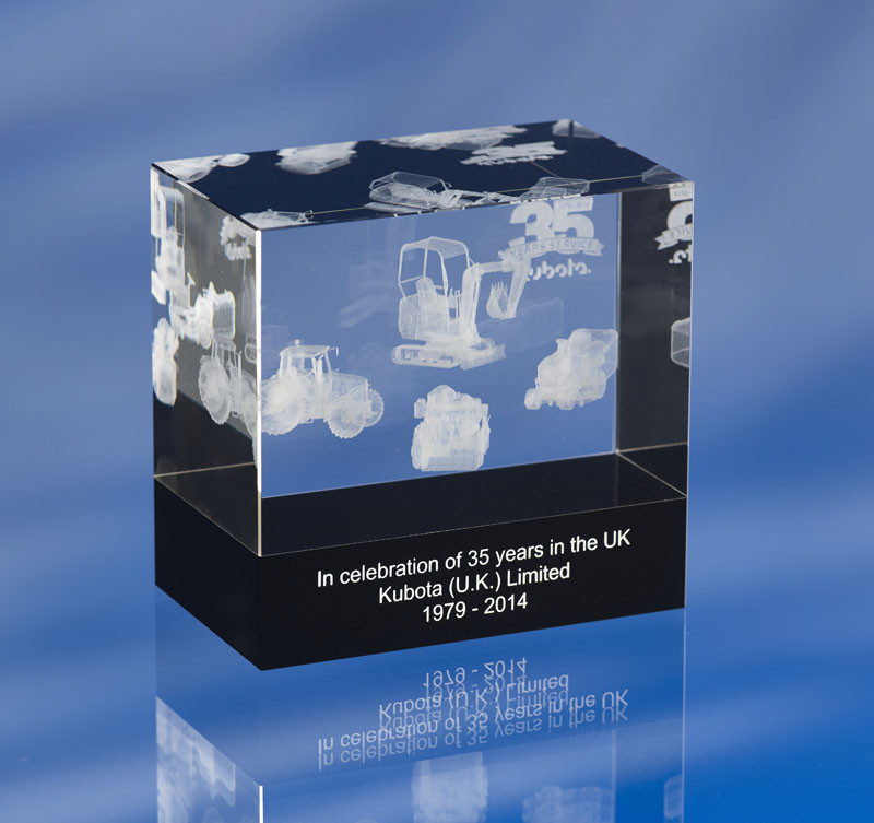 3d crystal award - CRYSTAL GLASS STAR PAPERWEIGHT or AWARD TROPHY with 3D Laser Engraved Image & Logo in Centre