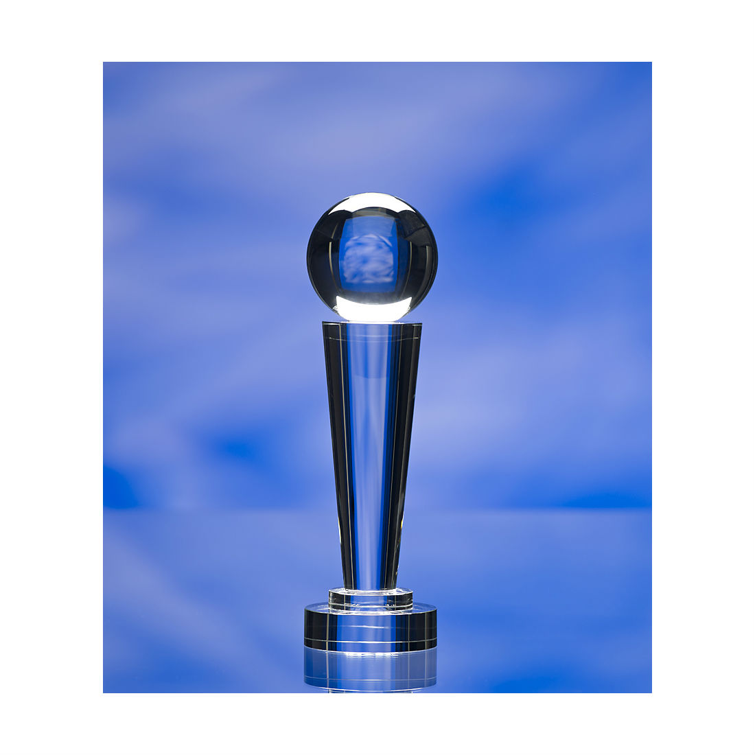 3d crystal glass column award trophy
